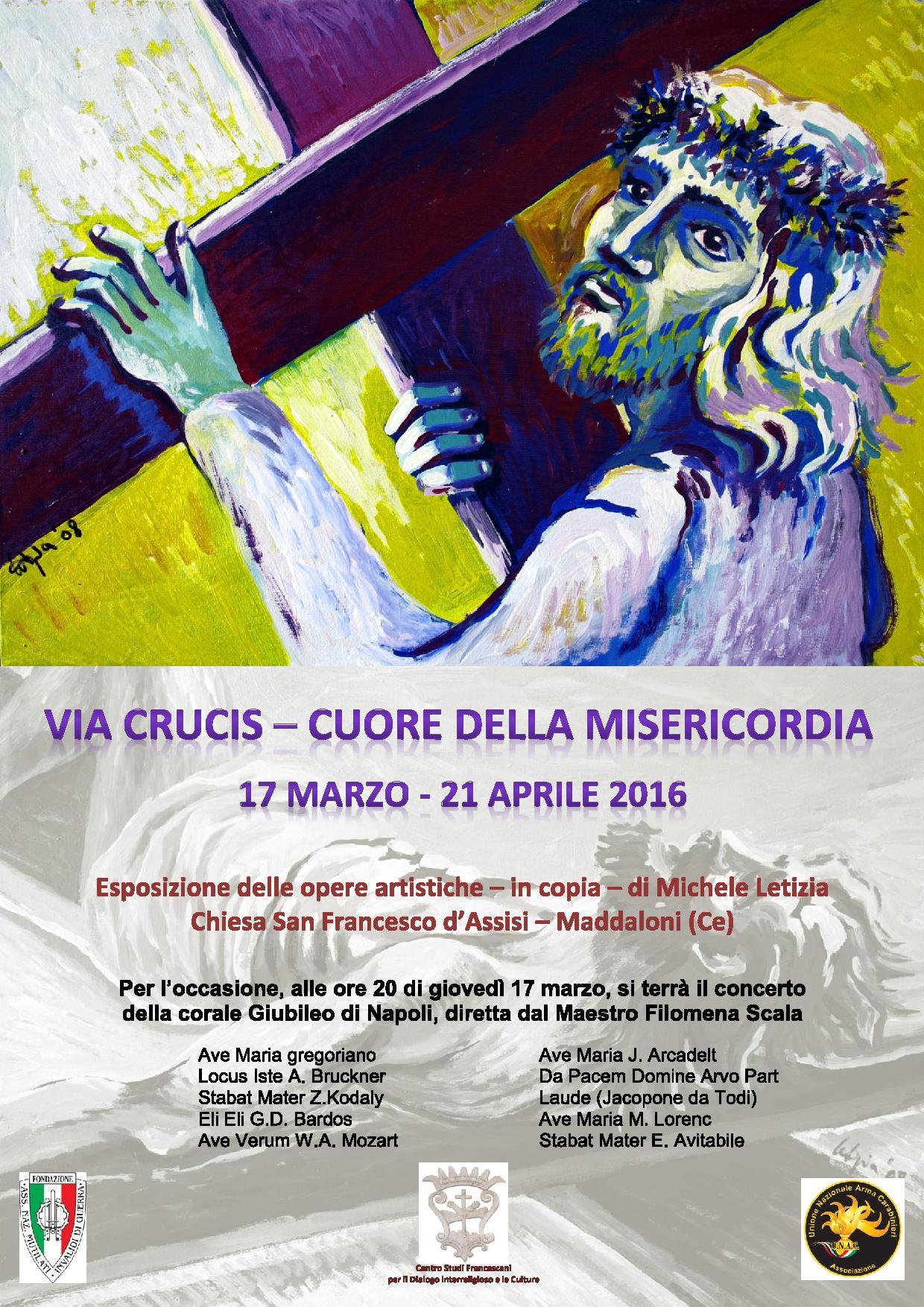 Manifesto 2016 Coro e Via Crucis di Michele Letizia