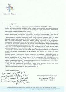 Lettera Invito Giubileo Giovani